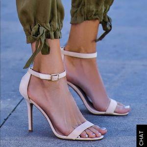 Shoes - Lulu's Elsi Bone Stilettos